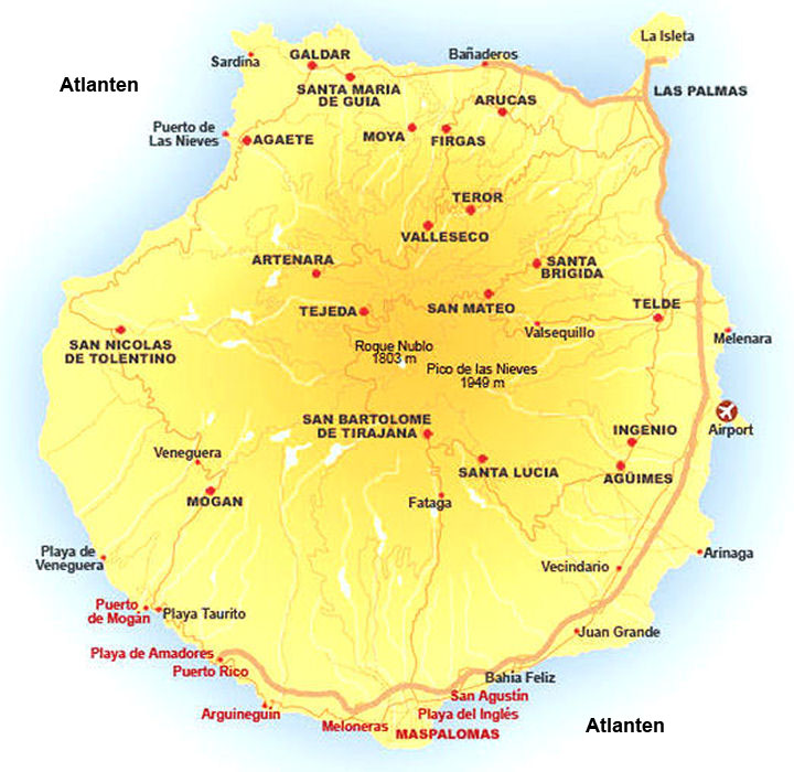 kanarieöarna puerto rico karta San Agustin Map Spain   Road Map of San Agustin Gran Canaria kanarieöarna puerto rico karta